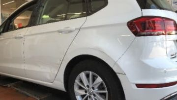 Auto Lackschaden hinten links